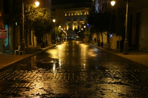 Lebanon Beirut after a rainstorm