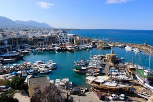 boats and harbor Girne, Cyprus