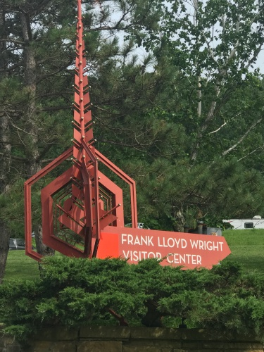 Frank Lloyd Wright Visitor Center sign