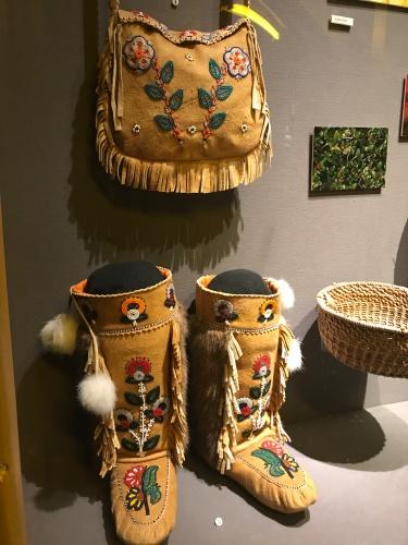Kluane Museum beaded mukluks yukon canada