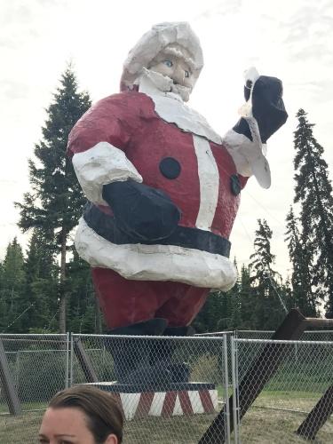 Giant Santa Claus North Pole Alaska