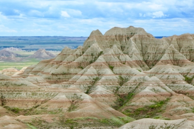 Badlands National Park striped hills