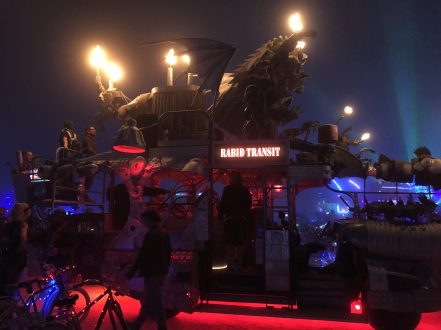 """Rabid Transit"" art car"