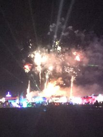 Fireworks, and the Man burns