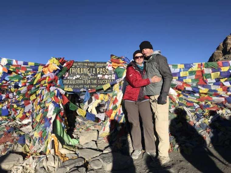 Deah and Chris at Thorang La High Pass