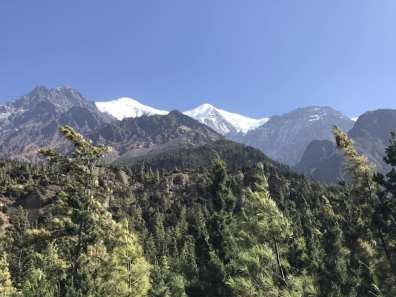 Snow atop the Dhaulagiri mountains