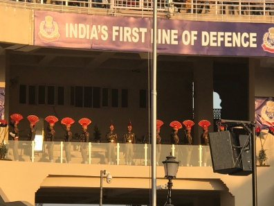 India's First Line of Defense poster at Wagah Border