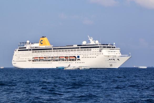 Costa Cruise boat Indian Ocean