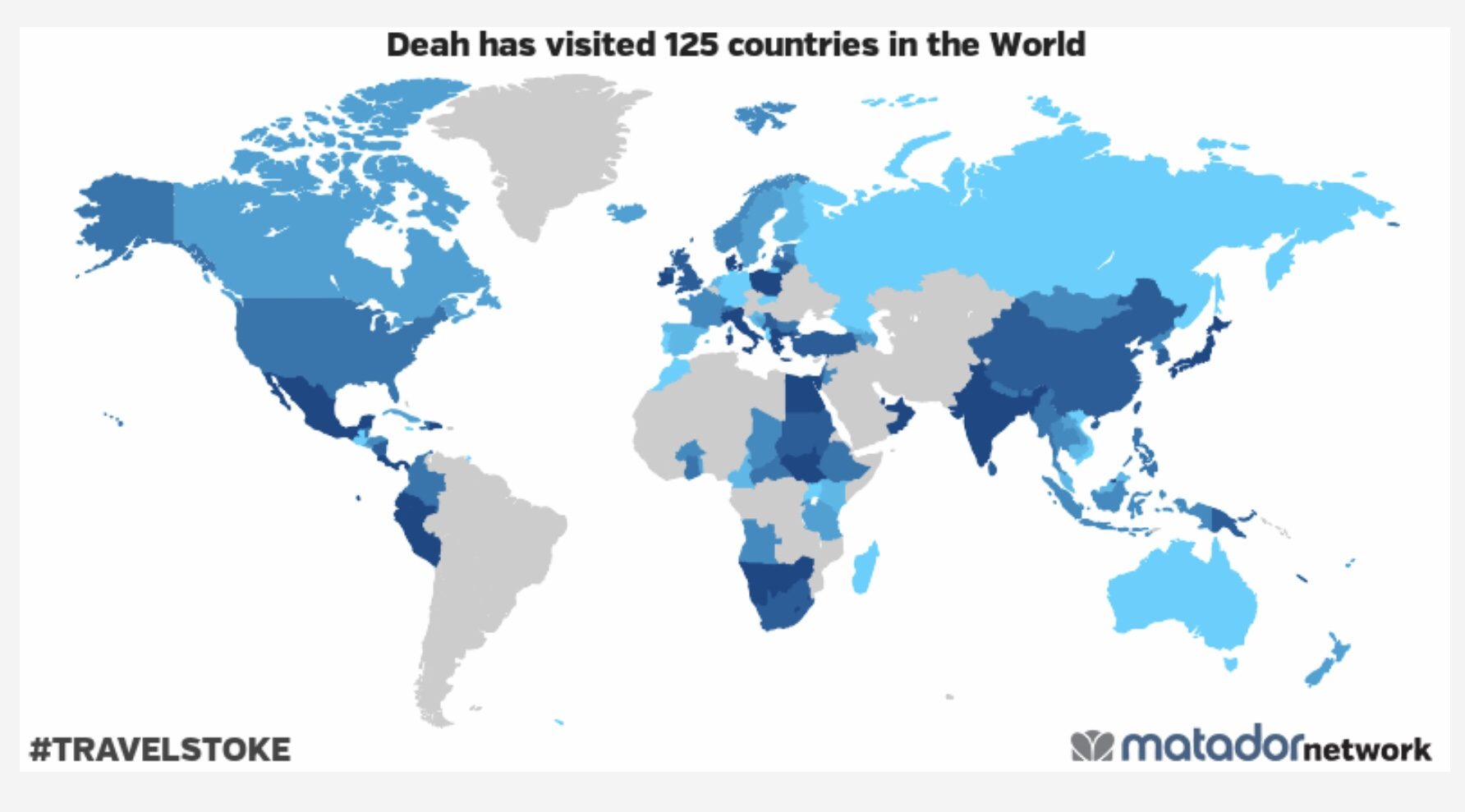 125 countries visited